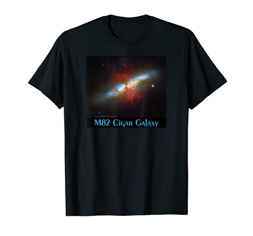 M82 Cigar Galaxy Messier Object 82 Space Astronomy Science T-Shirt