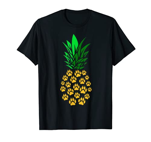 Pineapple Paw Prints Cute Gift For Dog Lover T Shirt