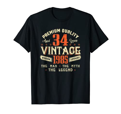 Legends Born In 1985 Aged 34 Years Old Awesome Birthday 34th T Shirt