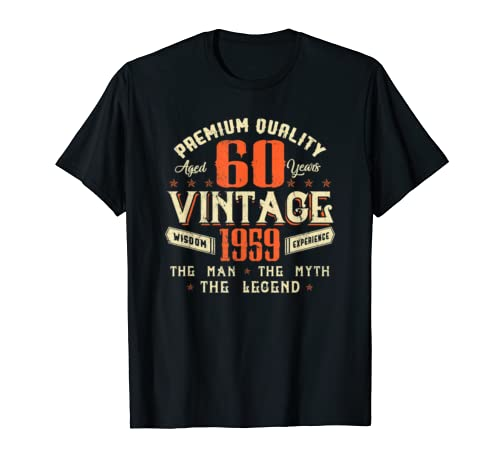 Legends Born In 1959 Aged 60 Years Old Awesome Birthday 60th T Shirt