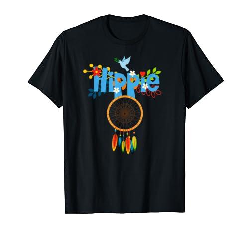 Peace Sign Love 60s 70s Tie Dye Hippie Costume Tee Gift T Shirt