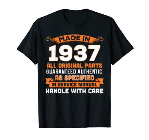 Made In 1937 Original Parts 82nd Birthday Shirt