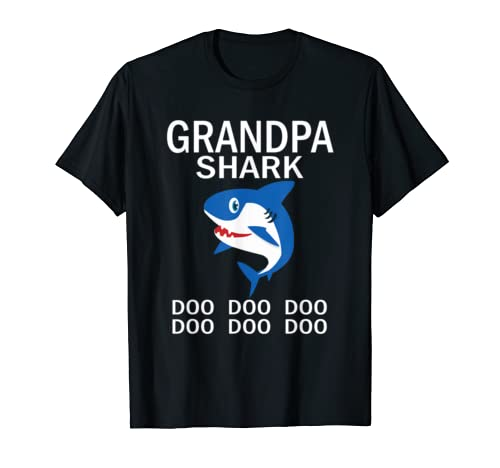 Grandpa Shark T Shirt Doo Doo Doo Fathers Day Grandpa T Shirt