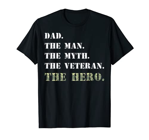 Dad The Man Myth USA Veterans Day Camouflage Gift Shirt