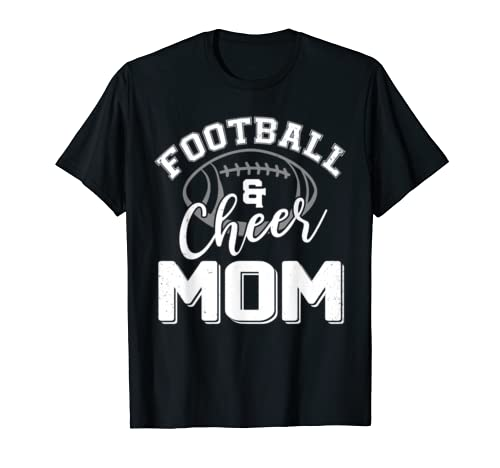 Football And Cheer Mom Football Lovers Mother's Day Gift T Shirt
