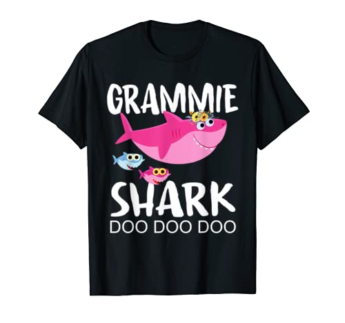 Grammie Shark Shirt Mothers Day Gift Idea For Mother Wife