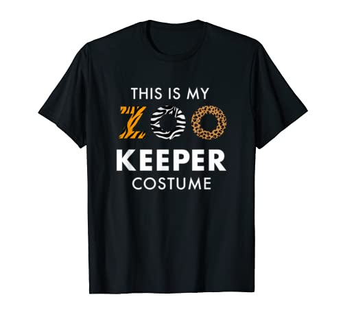 Simple Halloween Costume   Funny Zoo Keeper Costume T Shirt