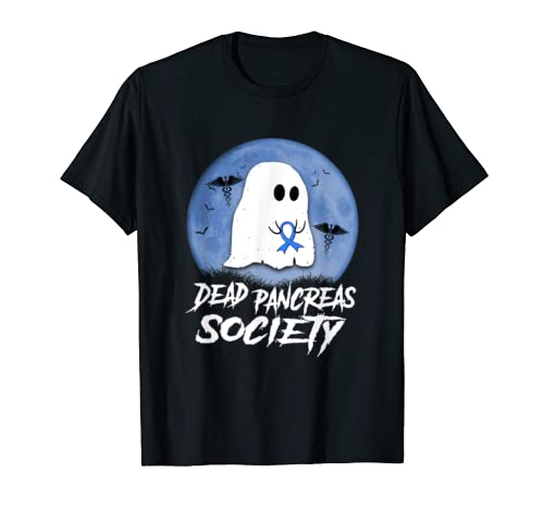 Dead Pancreas Society Diabetes Awareness Halloween Ghost T Shirt
