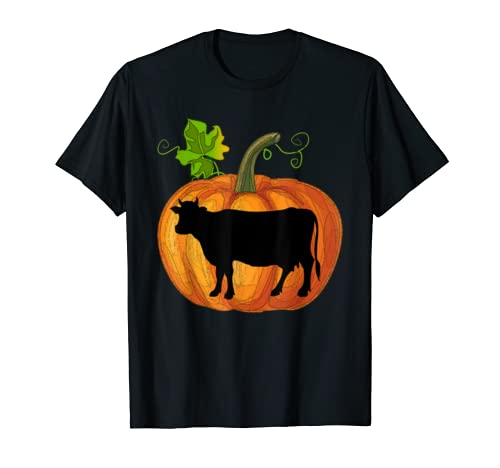 Cow In Pumpkin Shirt Funny Halloween Gift Cow Lovers T Shirt