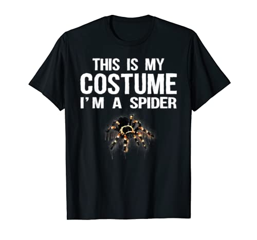 This Is My Costume I'm A Spider Tee Shirt Cute Halloween