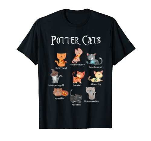 Harry Pawter Cute Kitten T Shirt Potter Cats Halloween Gift T Shirt