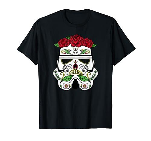 Star Wars Stormtrooper Roses Sugar Skull T Shirt