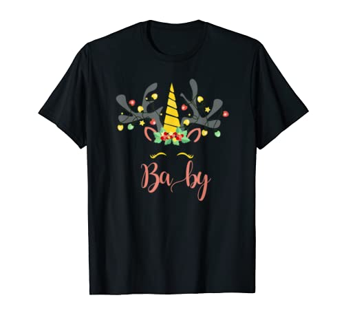 Baby Unicorn Matching Family Christmas T Shirt T Shirt