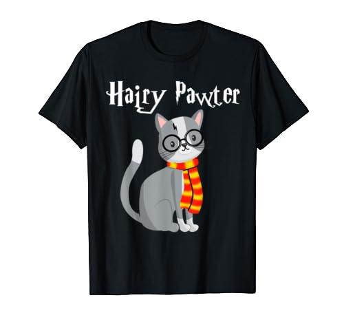 Hairy Pawter Potter Cats Cute T-shirt