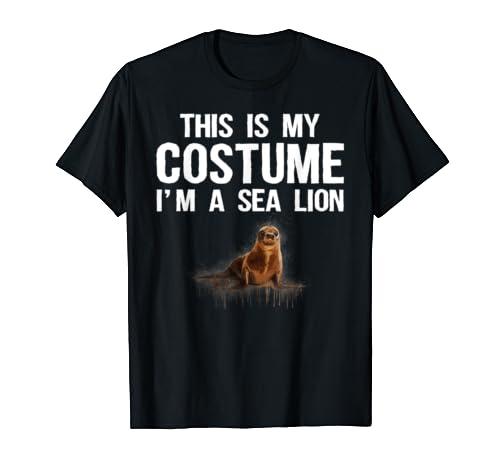 This Is My Costume I'm A Sea Lion Tee Shirt Cute Halloween