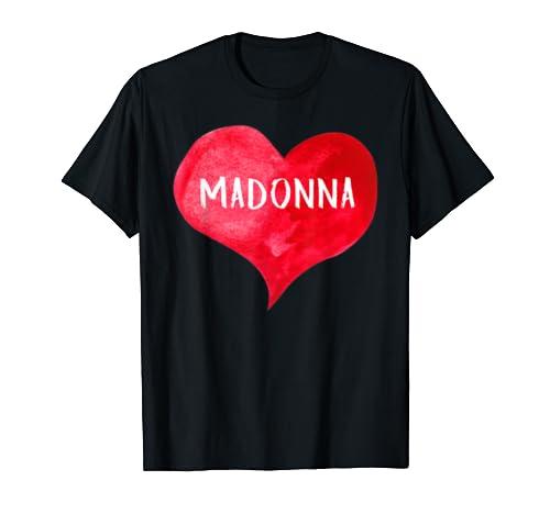 I Love Madonna   Love Heart Shirt, Gifts Valentine's Day T Shirt