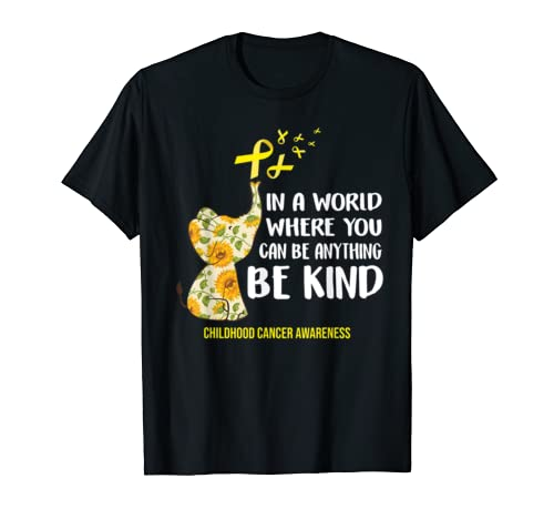 Childhood Cancer Awareness Costume Elephant Ribbon Gift T Shirt