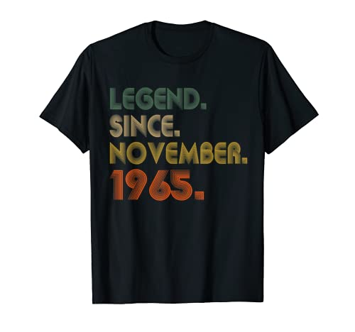 Legend Since November 1965 54th Birthday Gift 54 Years Old T Shirt