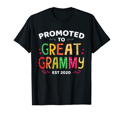 Promoted To Great Grammy Est 2020 T Shirt Mother's Day Gift