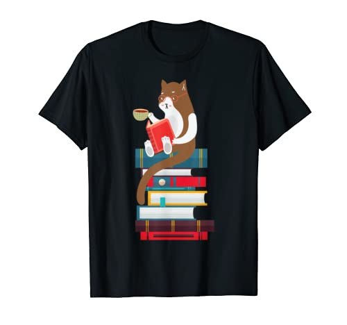Kittens, Cats, tea and books gift t shirt