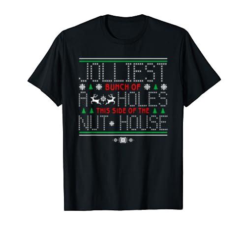 Jolliest Bunch Of A Holes Tee Funny Christmas Pajamas Movie T Shirt