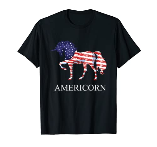 Americorn 4th Of July Usa Flag | Mericorn Gift For Women T Shirt