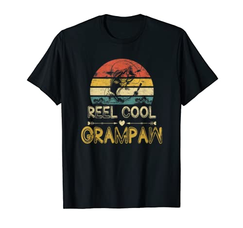 Reel Cool Grampaw T-Shirt Vintage Fisherman Father's Day