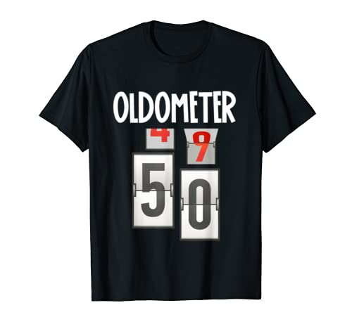 Oldometer 49 50 50th Birthday Funny Gift Men Women T Shirt