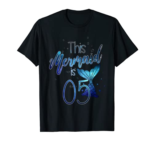 This Mermaid Is 05 Years Old Awesome Girl Princess Birthday T Shirt