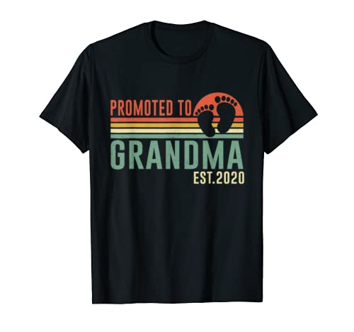 Vintage Promoted To Grandma Est 2020 Gift For New Grandma T Shirt