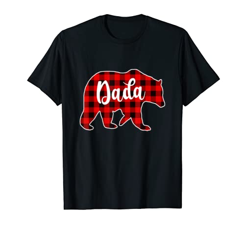 Red Plaid Dada Bear Matching Pajama Family Buffalo T Shirt