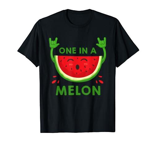 Awesome One In A Melon Tshirt Summer Watermelon Shirt Gifts T-Shirt Sweatshirt Hoodie