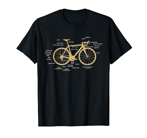 Bike Anatomy Bicycle T Shirt Bicycle Parts Shirt Gift Idea T Shirt