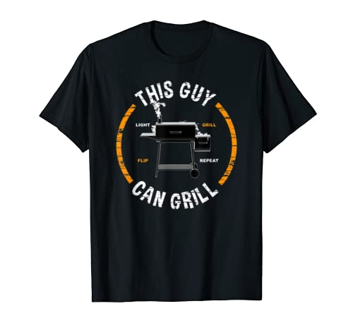 Mens This Guy Can Grill Grilling Gift For Dad Boyfriend Grandpa T Shirt