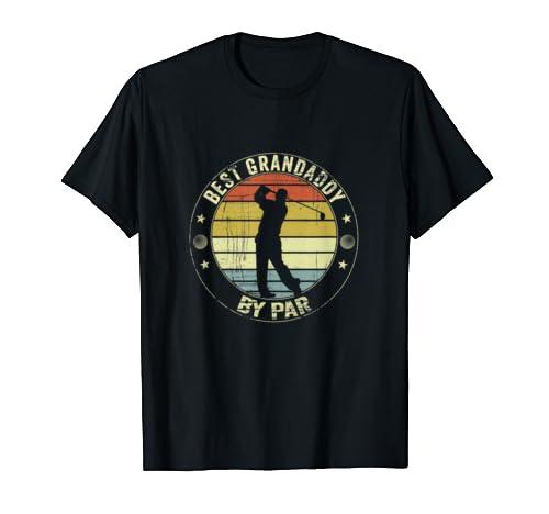 Mens Best Grandaddy By Par Shirt Father's Day Golf Lover Golfer T Shirt
