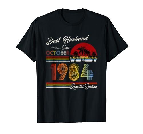 Mens 35th Wedding Anniversary Gift For Him 35 Years Best Husband T Shirt