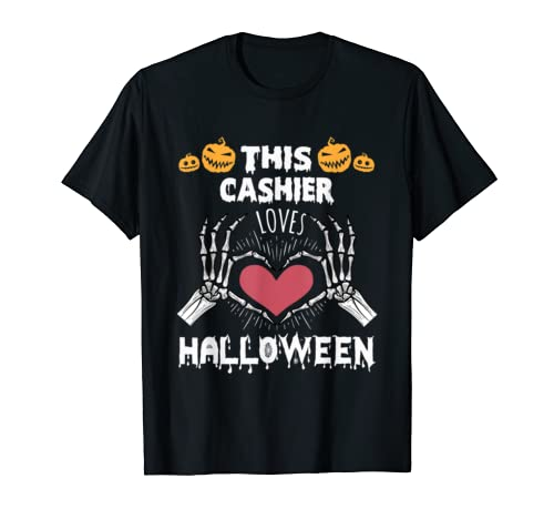 This Massage Cashier Loves Halloween Funny Tee Gifts T Shirt