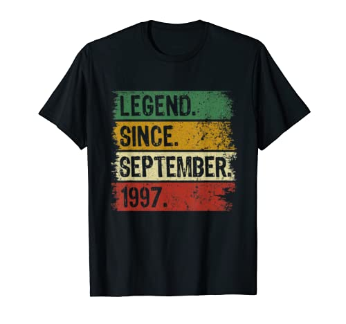 Legend Since September 1997 22 Years Old 22nd Birthday Gifts T Shirt