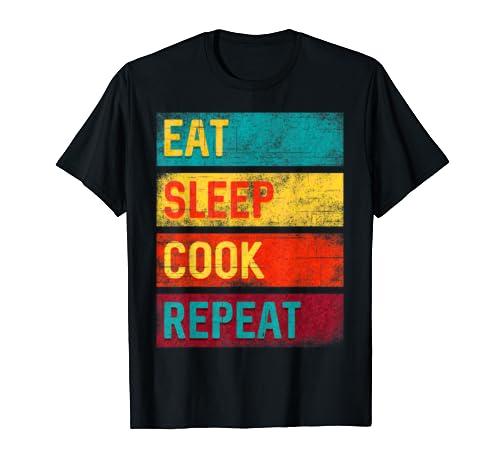 Chef Gift Eat Sleep Cook Repeat T-Shirt