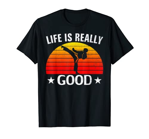 Retro Life Is Really Good Karate Funny Taekwondo Love Gift T Shirt