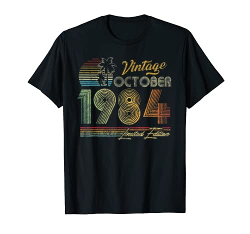 October 1984 35 Vintage 35th Birthday Decorations T Shirt