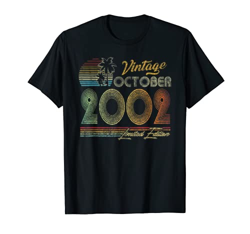 October 2002 17 Vintage 17th Birthday Decorations T Shirt
