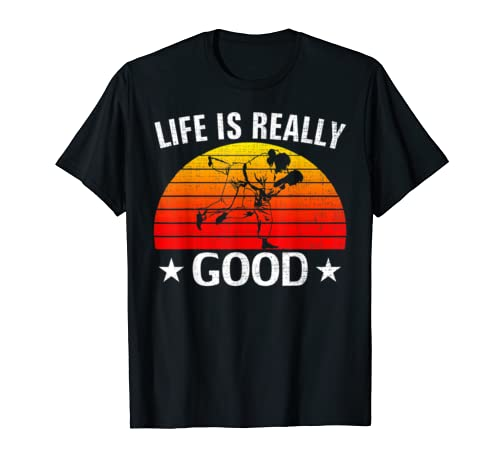 Retro Life Is Really Good Brazilian Jiu Jitsu Funny Bjj Gift T Shirt