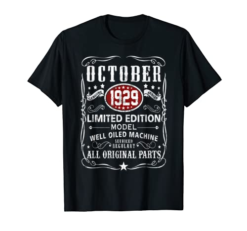 Legends Were Born In October  1929 T Shirt 90th Bay Gifts T Shirt