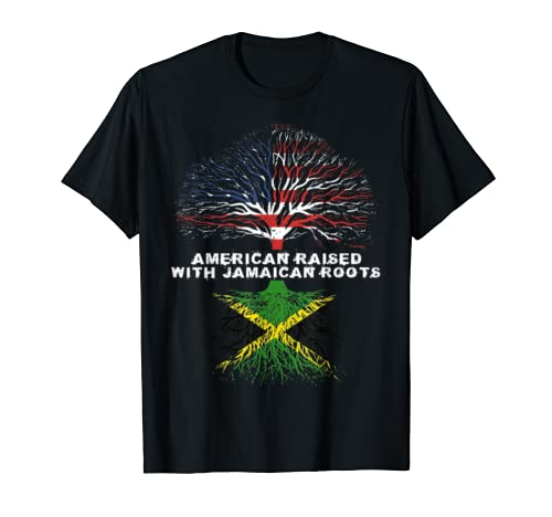 American Raised With Jamaican Roots Jamaica  T Shirt