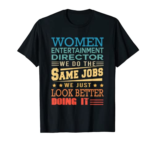 Funny Vintage Shirts Retro Entertainment Director T Shirt