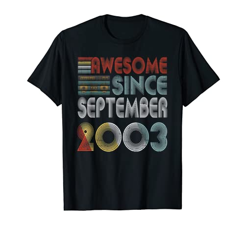 Vintage September 2003 Retro Classic Music Birthday T Shirt