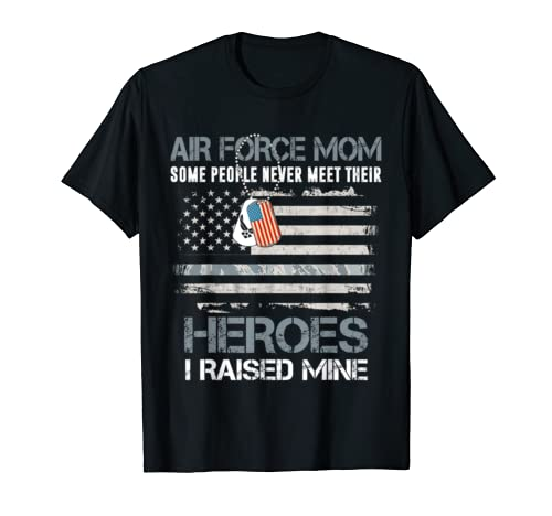 Air Force Mom  American Flag |Proud Military Mom 4th Of July T Shirt