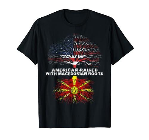 American Raised With Macedonian Roots Macedonia  T Shirt