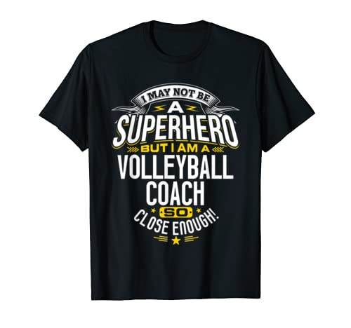Volleyball Coach T Shirt Gift Idea Superhero Volleyball Shirt